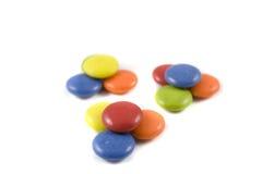 Mucchio del cioccolato colorato Fotografie Stock