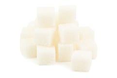 Mucchio del cubo dello zucchero Immagini Stock