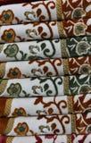 Mucchio del fondo delle coperte Fotografia Stock