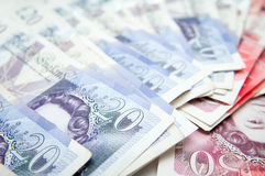 Mucchio del GBP fotografia stock libera da diritti