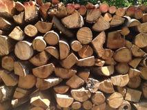 Mucchio del legno Immagini Stock Libere da Diritti