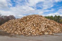 Mucchio del legno del fuoco di spaccatura Fotografia Stock