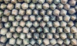 Mucchio del materiale di recinzione di legno fotografie stock