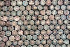 Mucchio del materiale di recinzione di legno immagine stock