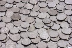 Mucchio del modello ucraino delle monete Immagini Stock