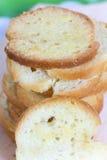 Mucchio del pane del pane tostato con l'aroma del formaggio Immagini Stock Libere da Diritti
