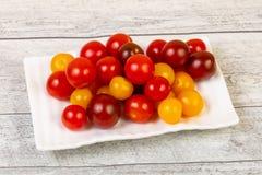 Mucchio del pomodoro ciliegia fotografia stock