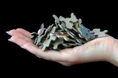 Mucchio del puzzle Fotografia Stock