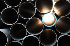 Mucchio del PVC tubo Fotografia Stock