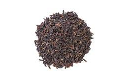 Mucchio del riso del nero del gelsomino isolato su fondo bianco nutrizione bio- Ingrediente di alimento naturale Vista superiore immagini stock