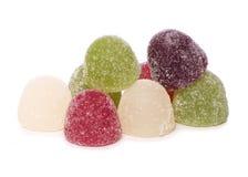 Mucchio del ritaglio dei dolci della gelatina Fotografie Stock