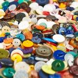 Mucchio dell'bottoni multipli Immagine Stock Libera da Diritti