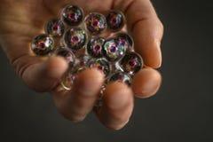 Mucchio dell'illustrazione di Atom Particles 3D Fotografia Stock