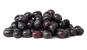 Mucchio dell'uva isolata su bianco Fotografia Stock