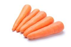 Mucchio della carota su fondo bianco Fotografia Stock Libera da Diritti