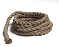 Mucchio della corda Fotografie Stock Libere da Diritti
