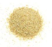 Mucchio della farina di soia da sopra Immagine Stock