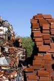 Mucchio della ferraglia immagazzinato per riciclare Fotografia Stock