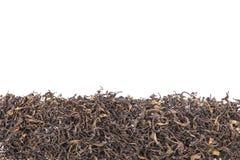 Mucchio della foglia di tè verde secca Colpo dello studio isolato su bianco Immagine Stock Libera da Diritti