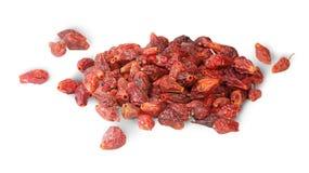 Mucchio della frutta asciutta del cinorrodo Fotografie Stock
