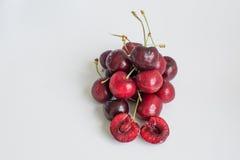 Mucchio della frutta matura fresca della ciliegia Immagine Stock Libera da Diritti