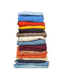 Mucchio della lavanderia della famiglia di abbigliamento Fotografia Stock Libera da Diritti