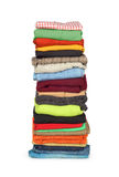 Mucchio della lavanderia della famiglia di abbigliamento Immagine Stock Libera da Diritti