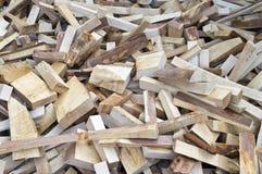 Mucchio della legna da ardere Immagine Stock