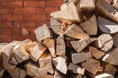 Mucchio della legna da ardere Immagine Stock Libera da Diritti