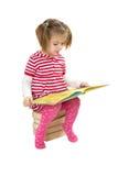 Mucchio della lettura del bambino dei libri Immagine Stock Libera da Diritti