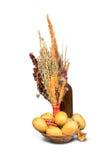 Mucchio della merce nel carrello delle patate Immagini Stock Libere da Diritti