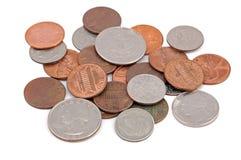 Mucchio della moneta Fotografia Stock Libera da Diritti