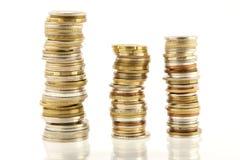 Mucchio della moneta Fotografie Stock