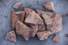 Mucchio della pasta del cacao Immagine Stock