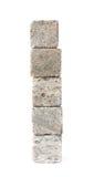 Mucchio della pila delle pietre di raffreddamento del whiskey isolate Fotografia Stock