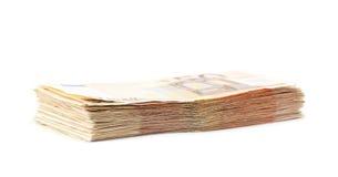 Mucchio della pila di soldi Fotografia Stock