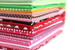 Mucchio della priorità bassa variopinta della tessile di cotone Fotografia Stock
