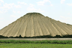 Mucchio della sporcizia e della sabbia Immagine Stock