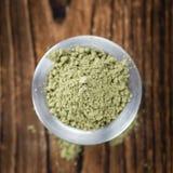 Mucchio della stevia & di x28; powder& x29; Fotografie Stock