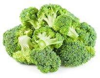 Mucchio della verdura cruda dei broccoli isolata Fotografia Stock