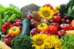 Mucchio della verdura e della frutta Fotografia Stock Libera da Diritti