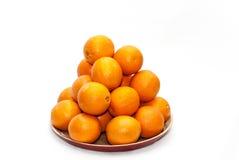 Mucchio delle arance Immagini Stock