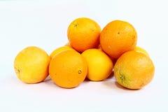 Mucchio delle arance navel fresche Immagini Stock Libere da Diritti