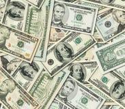 Mucchio delle banconote del dollaro degli Stati Uniti d'America Immagini Stock Libere da Diritti