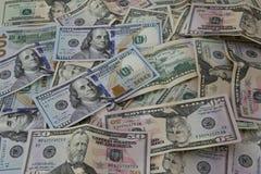 Mucchio delle banconote del dollaro degli Stati Uniti d'America Fotografia Stock