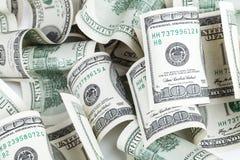 Mucchio delle banconote di USD del dollaro statunitense cento Fotografia Stock Libera da Diritti