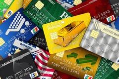 Mucchio delle carte di credito Fotografie Stock Libere da Diritti