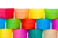 Mucchio delle caselle colorate Fotografia Stock Libera da Diritti