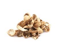 Mucchio delle coperture dell'arachide isolate Fotografia Stock