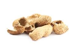 Mucchio delle coperture dell'arachide isolate Immagine Stock